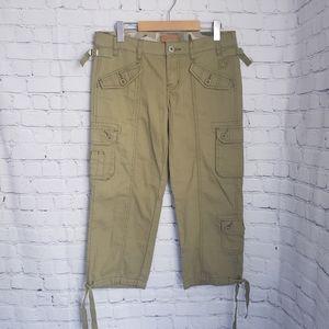 Converse Khaki Green Utility Cargo Pants Cropped